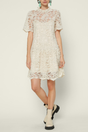 Current Air  Embellished Lace Mini Dress - Front cropped