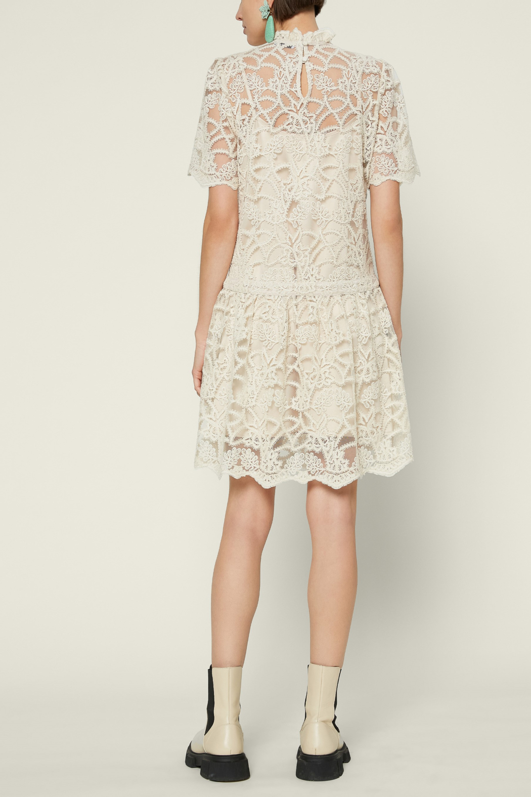 Current Air  Embellished Lace Mini Dress - Front Full Image