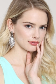 Riah Fashion Embellished-Marquise Filigree-Post-Earrings - Side cropped
