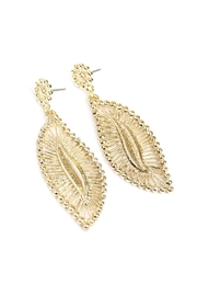 Riah Fashion Embellished-Marquise Filigree-Post-Earrings - Front full body