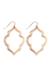 Riah Fashion Embellished-Marquise Hook Earrings - Product Mini Image