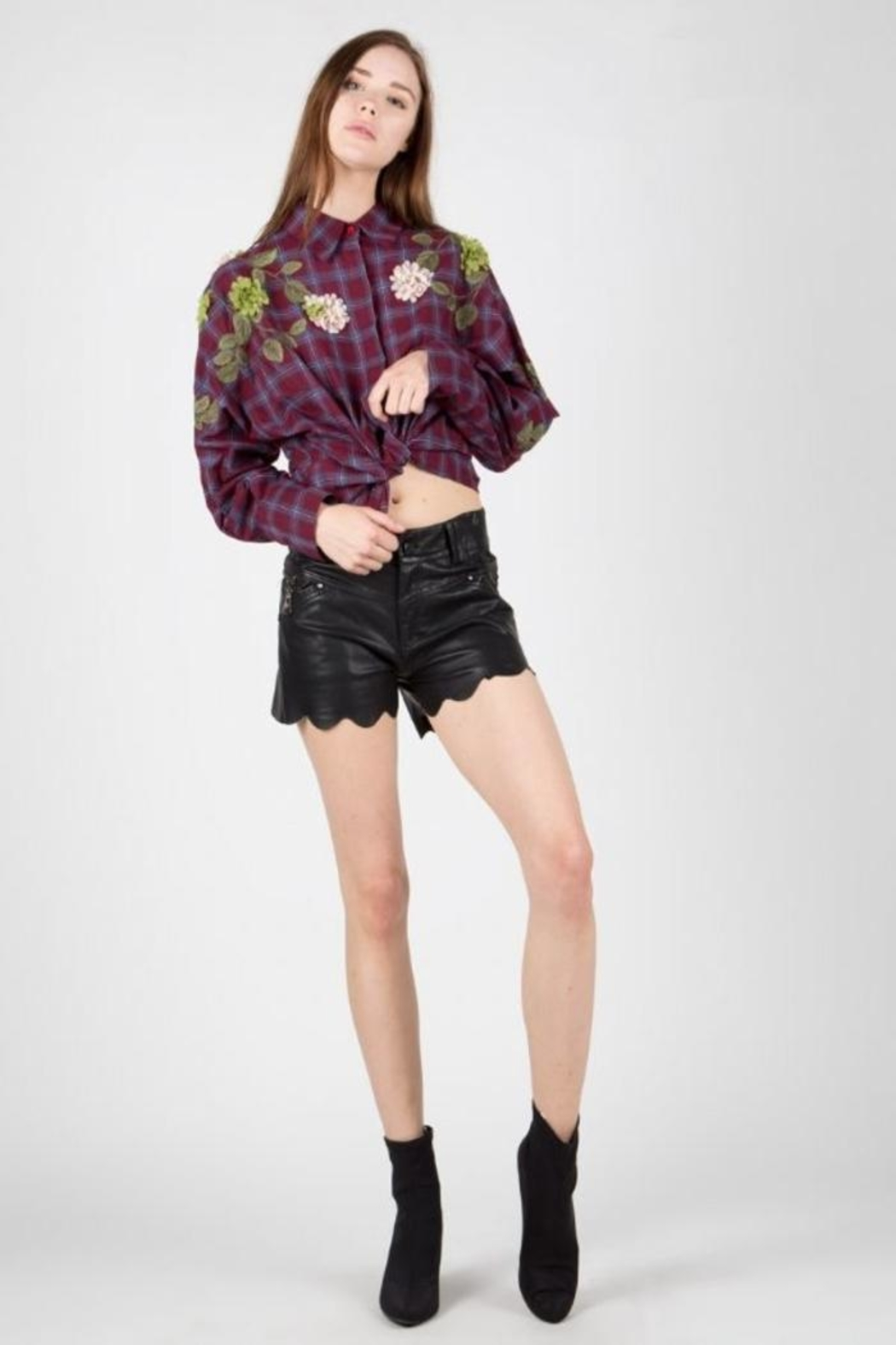 BEULAH STYLE Embellished Patch Blouse - Main Image