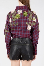 BEULAH STYLE Embellished Patch Blouse - Back cropped