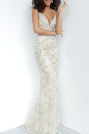 Jovani Embellished Plunging Neckline Gown - Product Mini Image