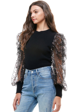 On Twelfth Embellished Puff Sleeve Sweater - Product List Image