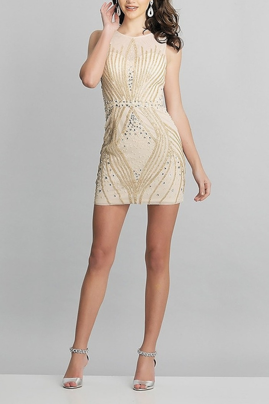 Dave and Johnny Embellished Sheath Dress - Front Cropped Image