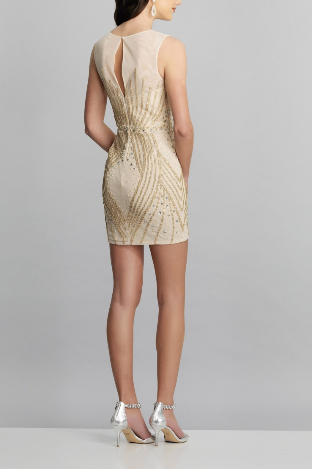 Dave and Johnny Embellished Sheath Dress - Front Full Image