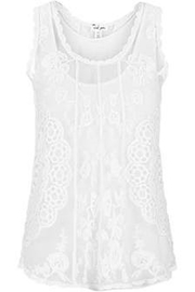Tribal Embellished Sleevless Top - Front full body