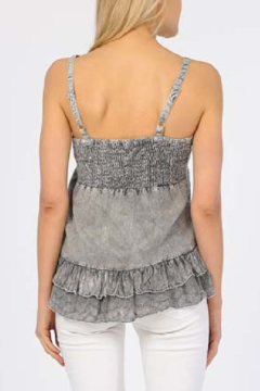 Apparel Love Embroidered Grey Tank Top - Alternate List Image