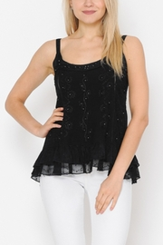 Apparel Love EMBELLISHED SPAGHETTI STRAP TOP in BLACK - Product Mini Image