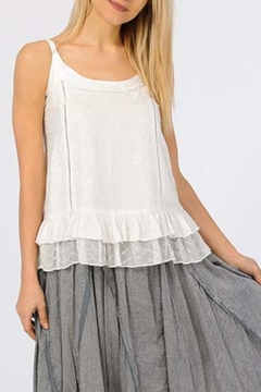 Apparel Love EMBELLISHED SPAGHETTI STRAP TOP in WHITE - Product List Image