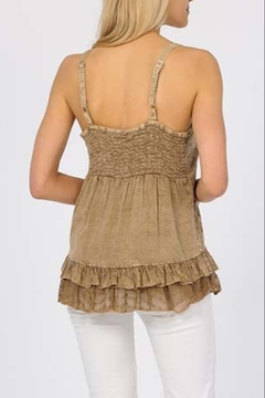Apparel Love EMBELLISHED SPAGHETTI STRAP TOP in WHITE - Alternate List Image