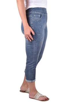 True Blue  Embellished Stone Capri - Product List Image