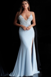 Jovani Embellished VNeck Gown - Product Mini Image