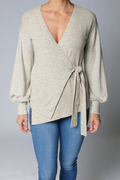 Heather Ember Wrap Front Sweater - Product List Image