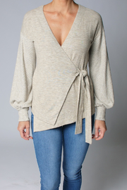 Heather Ember Wrap Front Sweater - Product Mini Image