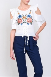 Lulumari Embo Cold-Shoulder Top - Front cropped