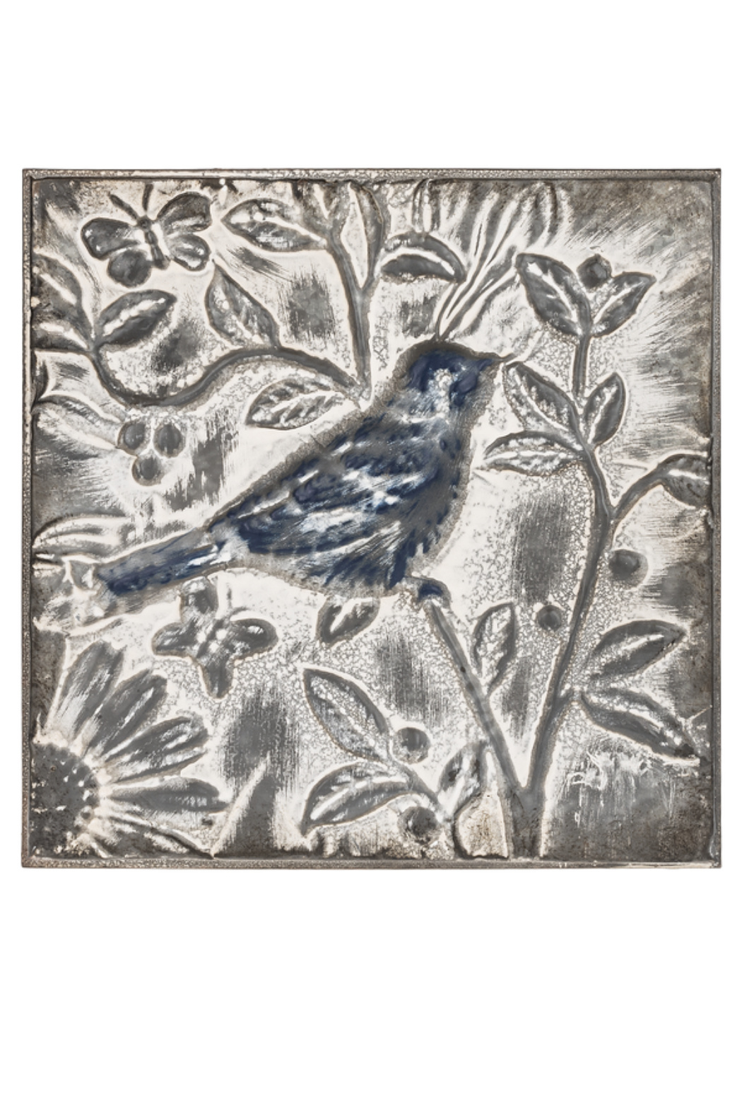 Ganz Embossed Bird Wall Decor A - Front Cropped Image