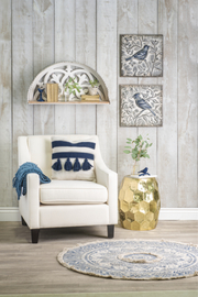 Ganz Embossed Bird Wall Decor A - Side cropped