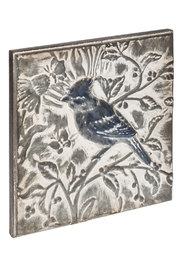 Ganz Embossed Bird Wall Decor A - Front full body