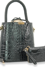 Handbag Express Embossed Bucket Handbag Set - Product Mini Image