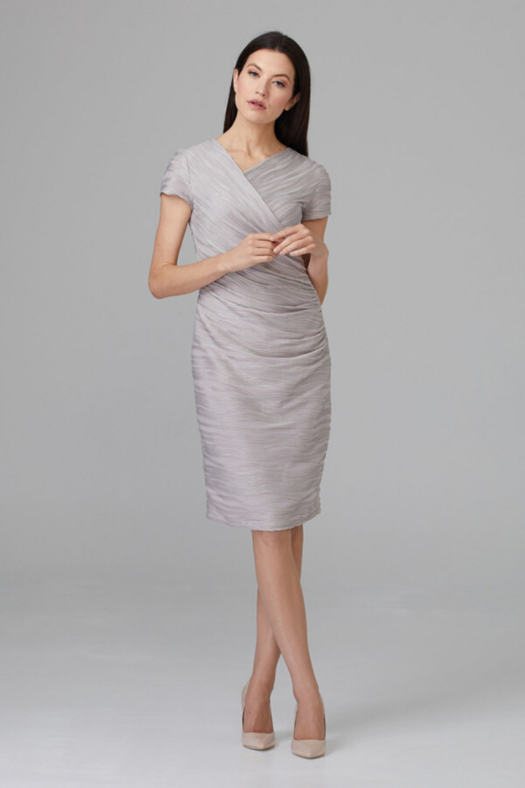 Joseph Ribkoff Embossed Detail Dress - Main Image