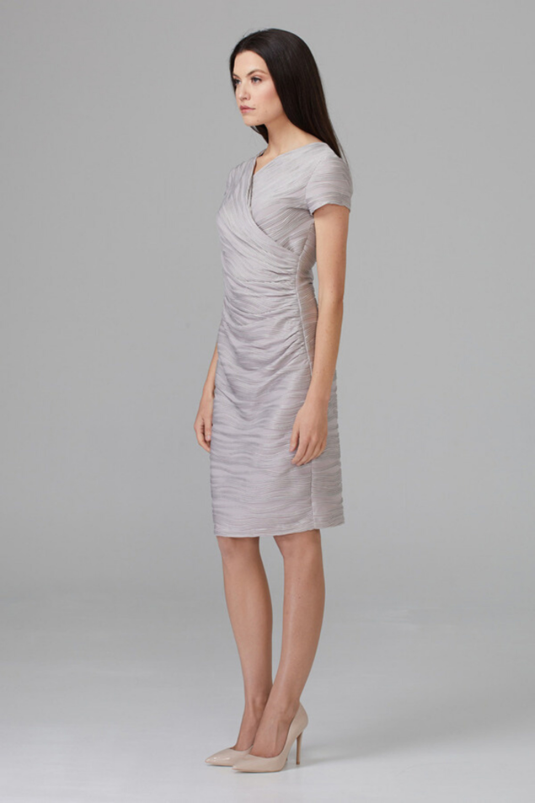 Joseph Ribkoff Embossed Detail Dress - Front Full Image