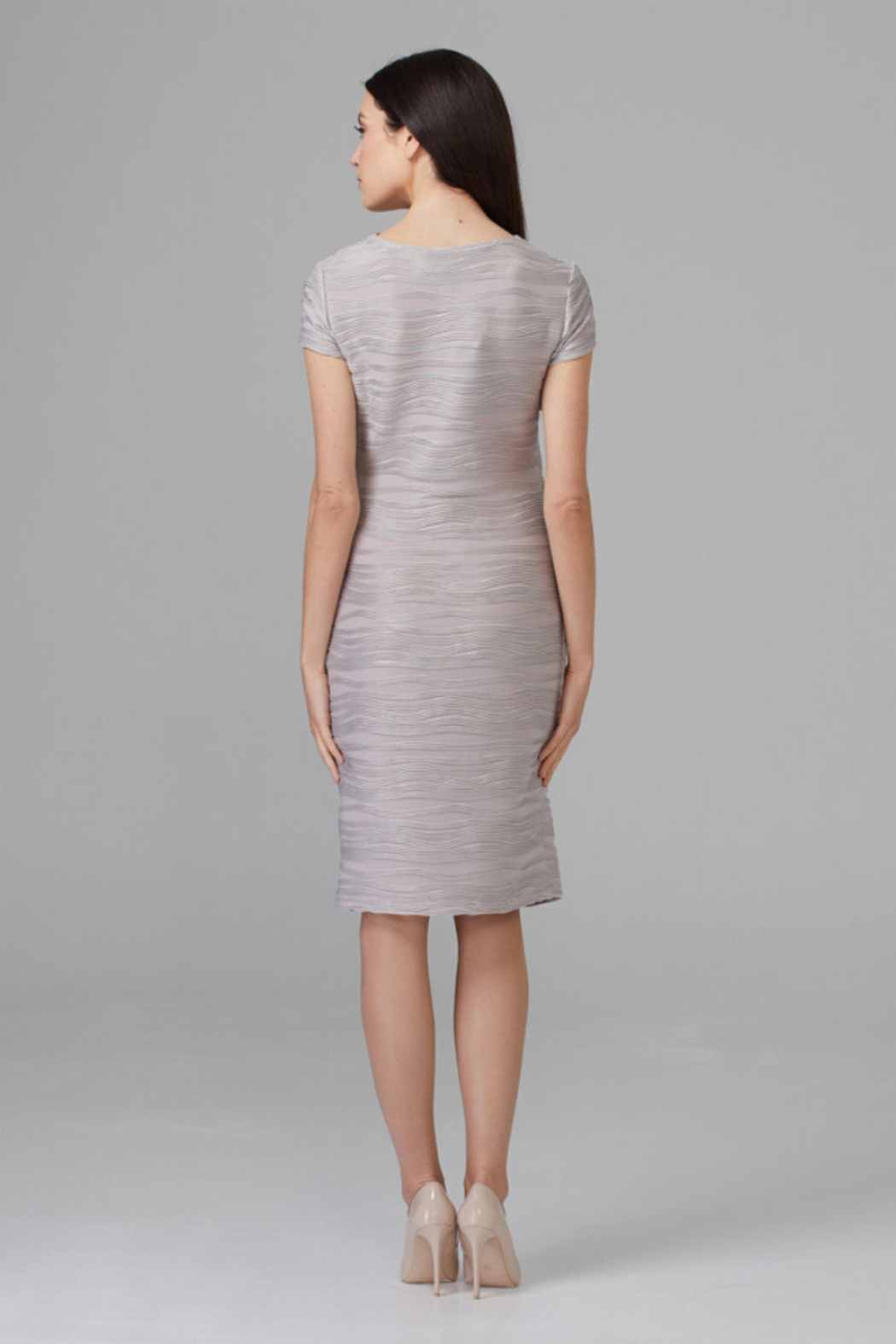 Joseph Ribkoff Embossed Detail Dress - Side Cropped Image