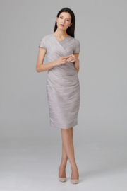 Joseph Ribkoff Embossed Detail Dress - Front cropped