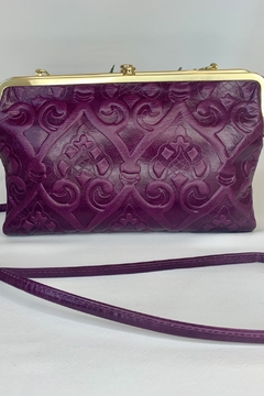 Hobo Embossed Eggplant Cross body bag - Alternate List Image