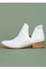 MiiM Embossed faux-calf bootie - Front cropped