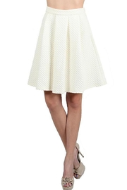 Ryu Embossed Ivory Skirt - Front cropped