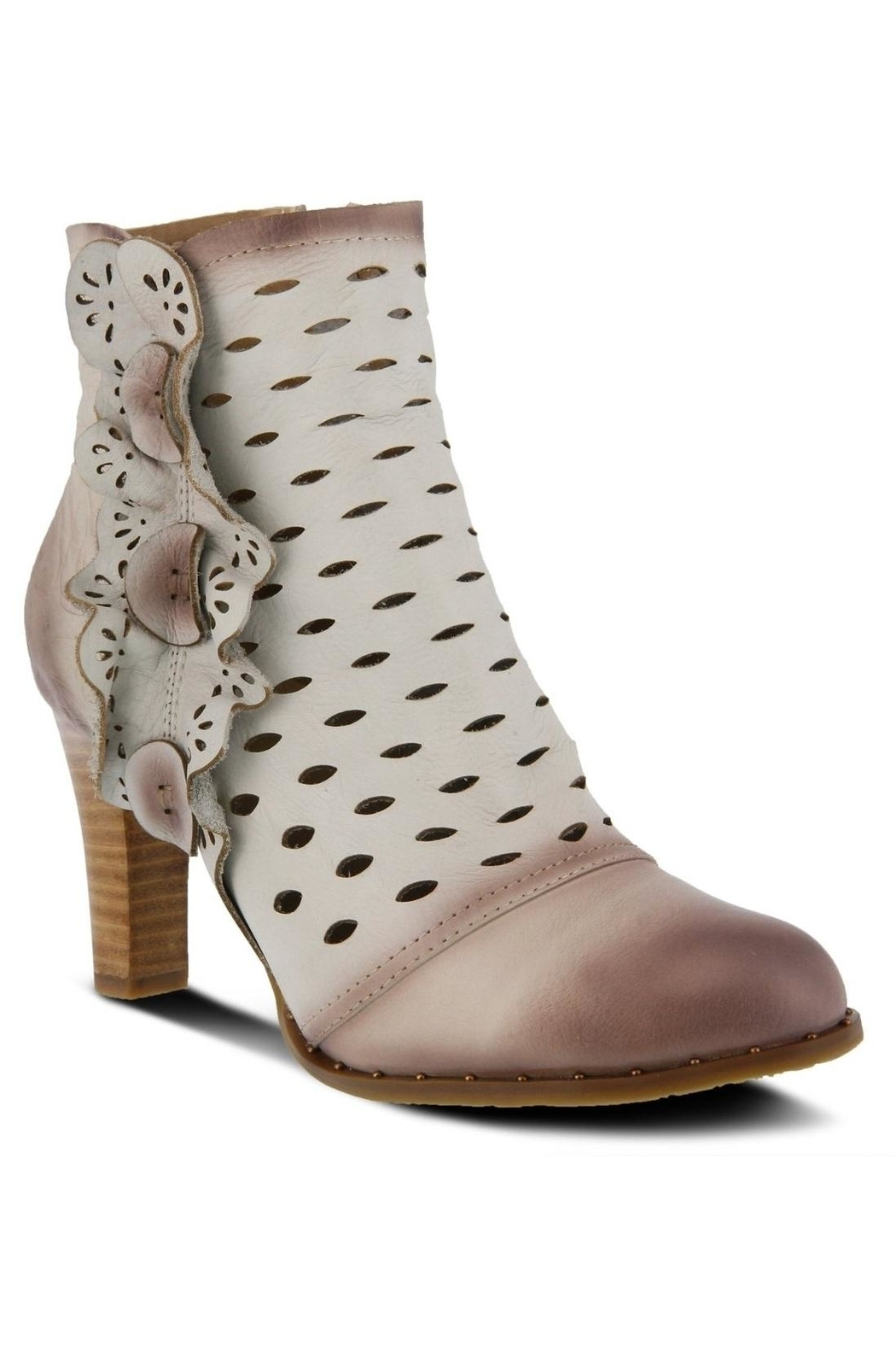 Spring Footwear Embossed Leather Bootie - Main Image