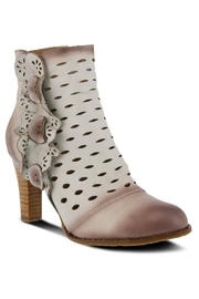 Spring Footwear Embossed Leather Bootie - Front cropped