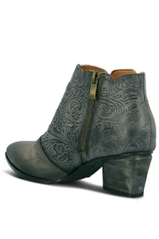 Spring Footwear Embossed Leather Bootie - Front full body