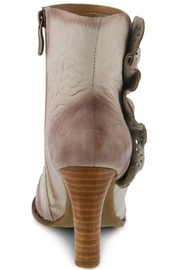 Spring Footwear Embossed Leather Bootie - Other