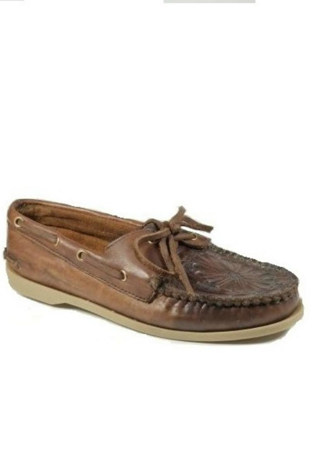 Kobler Inc. Embossed Leather Moccasin - Main Image