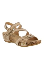 Spring Footwear Embossed Leather Sandal - Product Mini Image