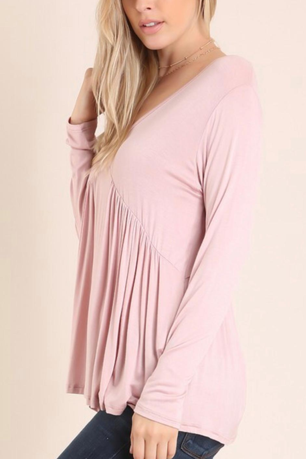 Embrace Blush Babydoll Top - Front Full Image