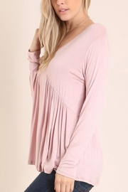 Embrace Blush Babydoll Top - Front full body