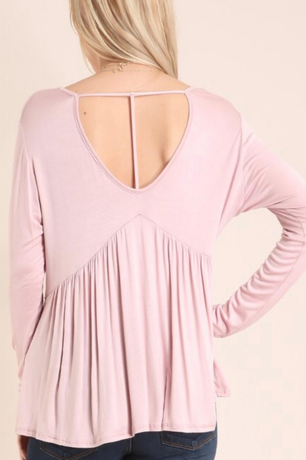 Embrace Blush Babydoll Top - Side Cropped Image