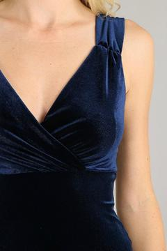 Shoptiques Product: Navy Velvet Dress
