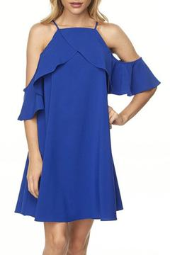 Shoptiques Product: Royal Cold Shoulder Dress