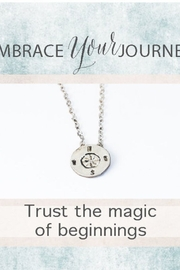 Chocolate and Steel Embrace Your Journey – Compass Necklace - Product Mini Image