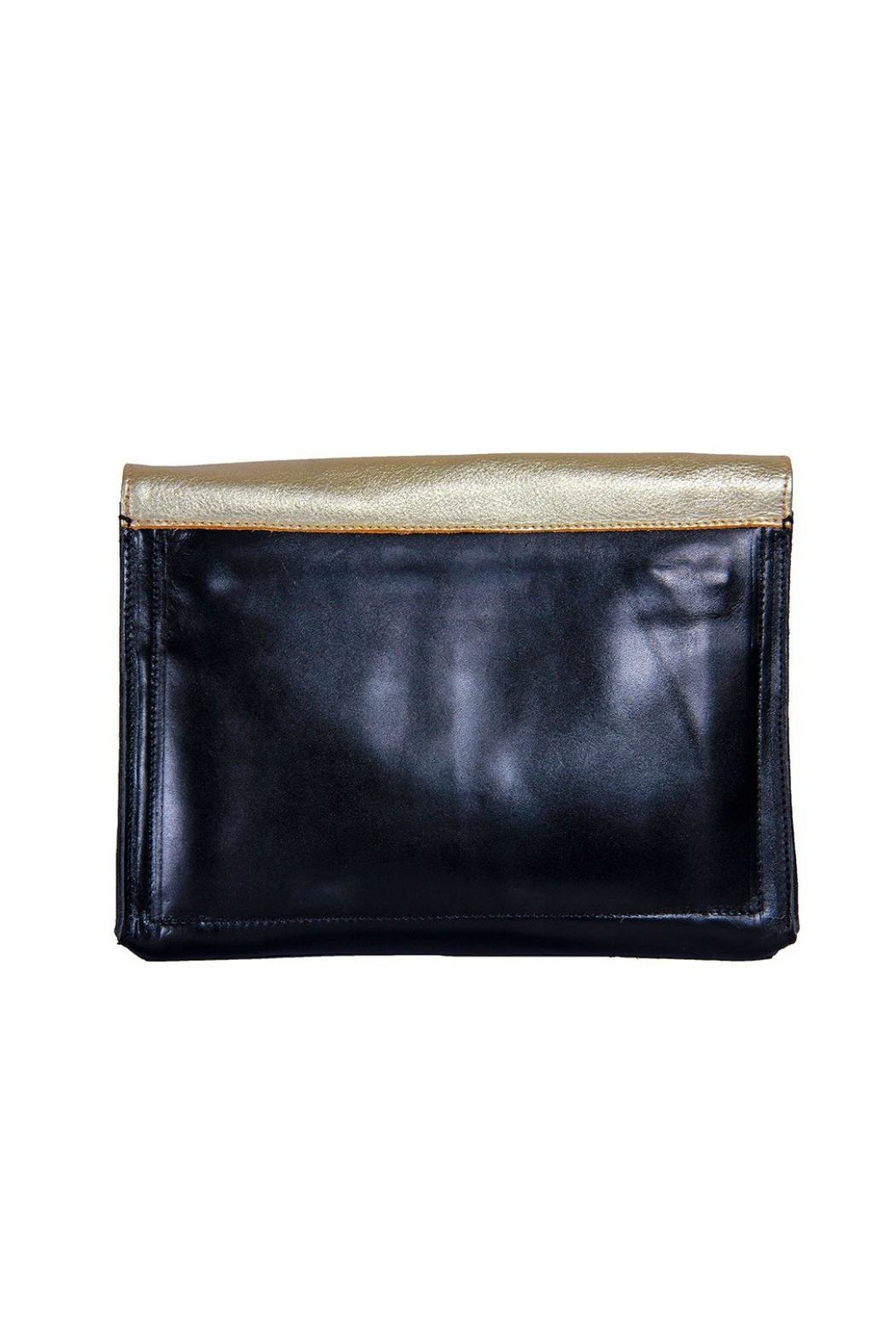Embrazio Envelope Leather Clutch - Front Full Image