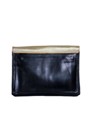 Embrazio Envelope Leather Clutch - Front full body