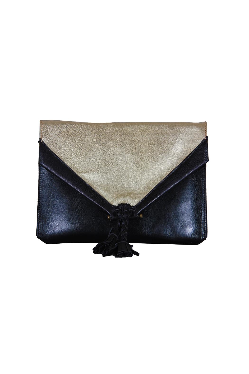 Embrazio Envelope Leather Clutch - Front Cropped Image