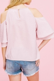 Listicle Embriodery Cold-Shoulder Top - Side cropped
