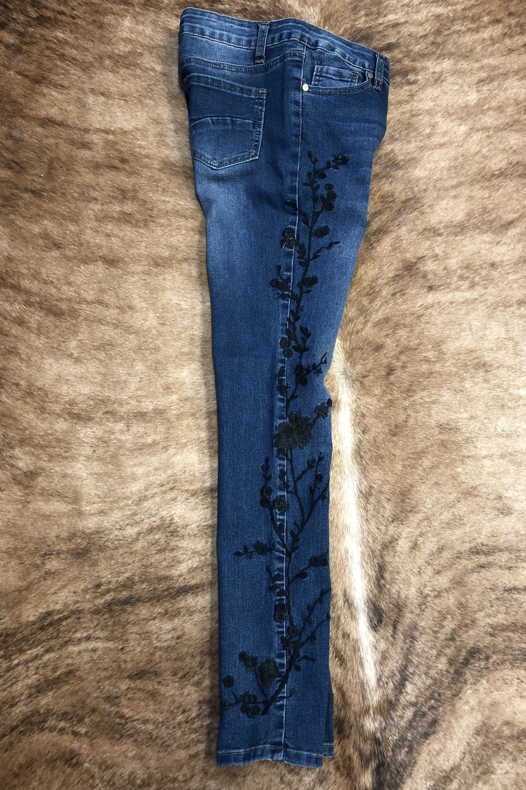 GG Jeans Embrodiered  Slim jeans - Back Cropped Image