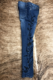 GG Jeans Embrodiered  Slim jeans - Back cropped